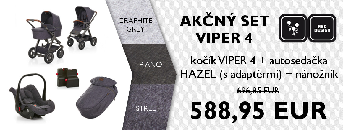 20171013 ABC Design - SET VIPER 4 (PIANO, STREET, GRAPHITE) (SVK)